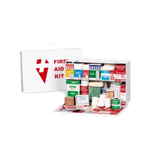 Swift 2 Shelf Small Industrial First Aid Kit w/Liner