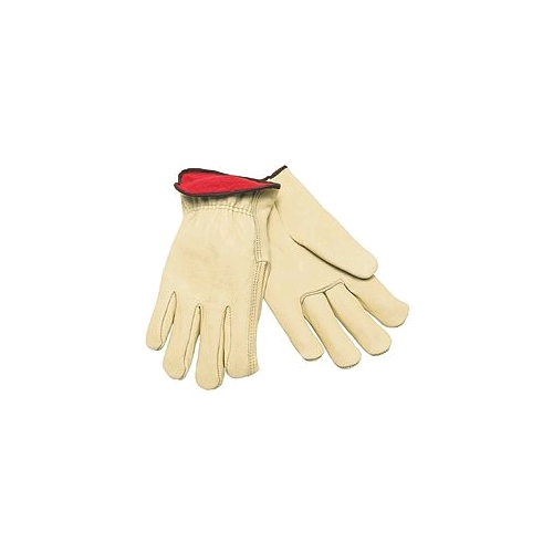 Memphis Lined Leather Drivers Gloves, 8 Oz. Red Jersey Lined, Large