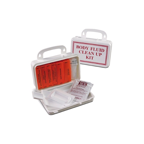 Body Fluid Clean Up Kit w/CPR in Plastic Box