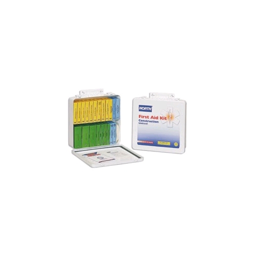 North Construction Unitized First Aid Kit, 24 Unit, Metal